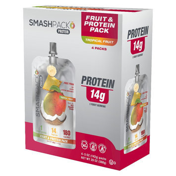 Smashpack On The Go Tropical Fruit Protein Shake - 5 oz
