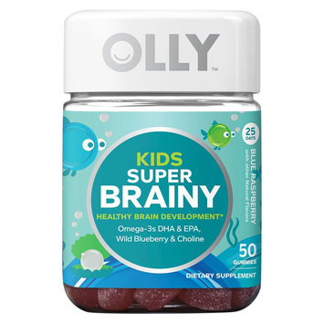 Olly Kids Raspberry Brain Development Vitamin Gummies - 50 Count