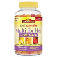 Nature Made Multi for Her Plus Omega-3s Gummies - 150 Count