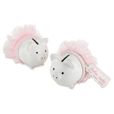Kate Aspen Tutu Cute Ceramic Mini-Piggy Bank (Set of 12)