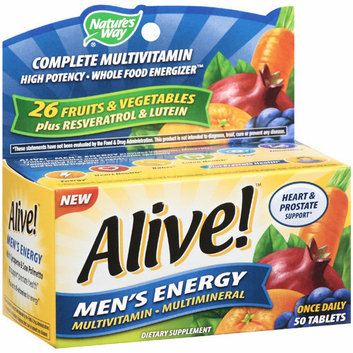 Nature's Way Alive! Men's Energy Tablets Multivitamin/Multimineral Supplement