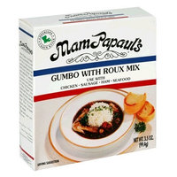 Mam Papaul's Gumbo with Roux and Bisque Mix, 3.5-Ounce Boxes (Pack of 6)