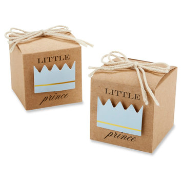 Kate Aspen Little Prince Kraft Favor Box (Set of 24)
