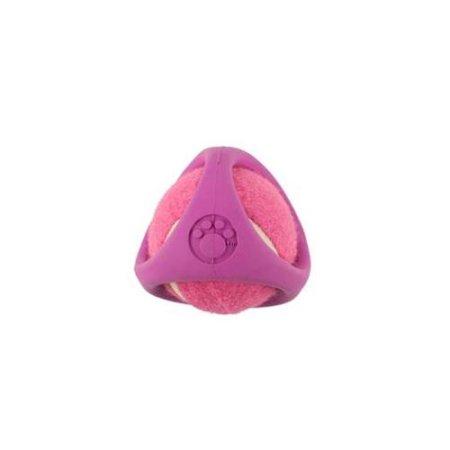PetProjekt PTNSBAL13 Tennisbal Rubber Dog Toy Pink