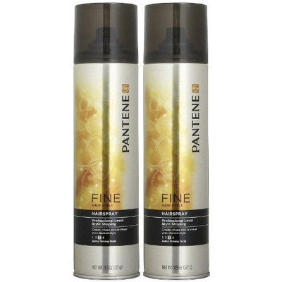 Pantene Pro-V Fine Hair Professional Style Shaping Extra Strong Hairspray Dual Pack
