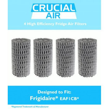 Crucial Air 4 Frigidaire EAF1CB Pure Air Refrigerator Air Filters, Compare to Part