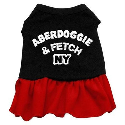 Mirage Pet Products 5801 XXXLBKRD Aberdoggie NY Dresses Black with Red XXXL 20
