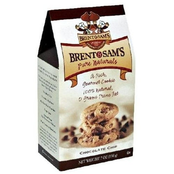 Brent and Sams Brent & Sams Pure Naturals Chocolate Chip Cookies, 7-Ounce Boxes (Pack of 12)