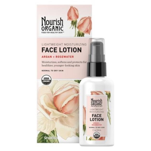 Nourish Organic Lightweight Moisturizing Face Lotion - 1.7 oz