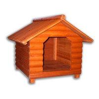 Merry Pet The Log Home Wood Pet House, Medium
