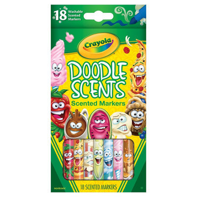 Crayola 18ct DoodleScents Markers, Multi-Colored