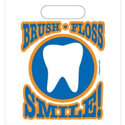Oral Choice 3433 Brush Floss Smile Gift Bag 250 pcs