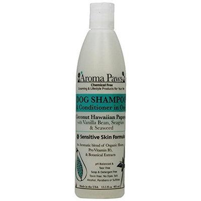 Aroma Paws 13.5 oz. Luxury Dog Shampoo & Conditioner in One Coconut Papaya: Sensitive Skin