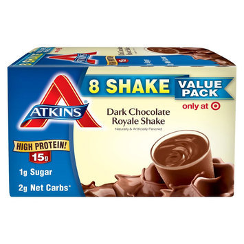 Atkins High Protein Dark Chocolate Royale Shake - 8 Count