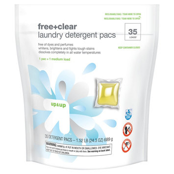 up & up Free & Clear Single Dose Laundry Detergent Pacs - 35 Count