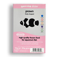 Gamma Frozen Food Finely Chopped Prawn Blister Pack Fish Food