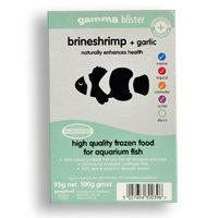 Gamma Frozen Food Brine Shrimp plus Garlic Blister Pack Fish Food