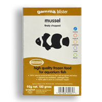 Gamma Frozen Food Finely Chopped Mussel Blister Pack Fish Food