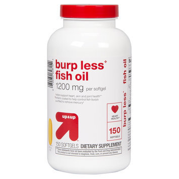 up & up Burp Less 1200mg Fish Oil Softgels - 150 Count