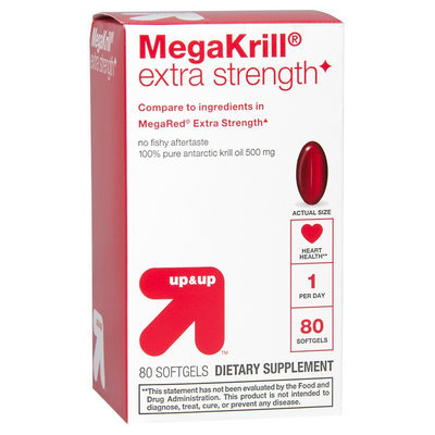 up & up MegaKrill 500 mg Extra Strength Softgels - 80 Count