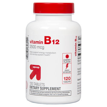 up & up Vitamin B12 Cherry 2500 mcg Tablets For Energy Metabolism - 120 Count