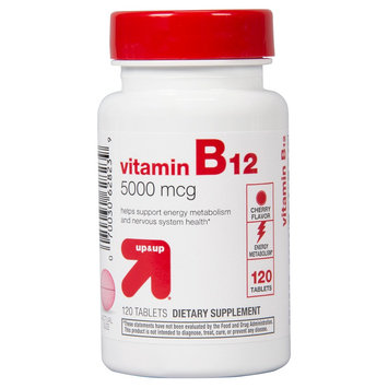 up & up Vitamin B12 Cherry 5000 mcg Tablets For Energy Metabolism - 120 Count