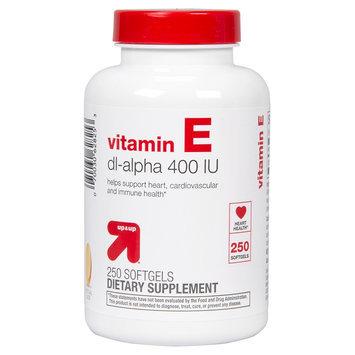 up & up Vitamin E Dl- Alpha 400 IU Softgels For Heart Health - 250 Count