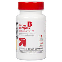 up & up Super B Complex With Vitamin C Tablets For Energy Metabolism - 100 Count