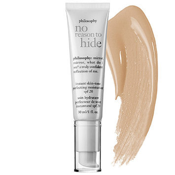 philosophy no reason to hide instant skin-tone perfecting moisturizer broad spectrum spf 20 sunscreen, light, 1 fl oz