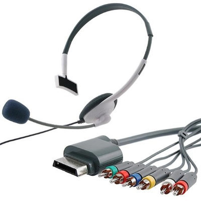 Eforcity INSTEN Component HD AV Cable/ Headset for Microsoft Xbox 360