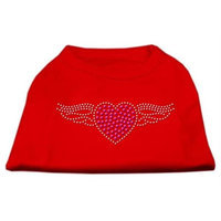Mirage Pet Products 5206 XXXLRD Aviator Rhinestone Shirt Red XXXL 20