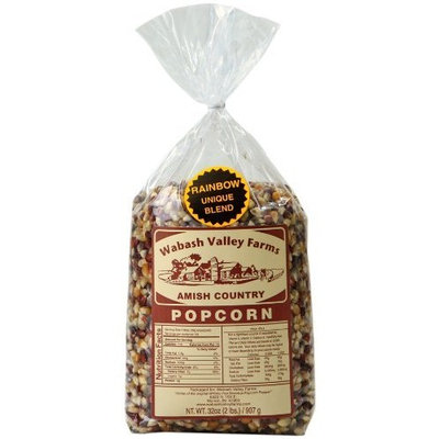 Wabash Valley Farms Amish Country Gourmet Popping Corn, Flavorful Medley, 2-Pound Bags (Pack of 6)
