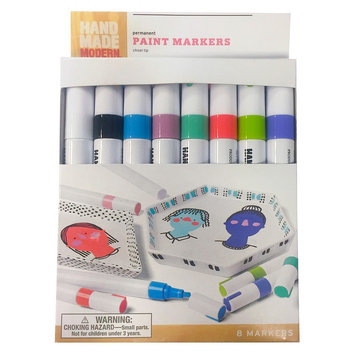 Hand Made Modern Paint Markers 8pk, Multi-Colored