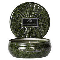 Voluspa 3 Wick Decorative Tin, Ponderosa, 12 oz