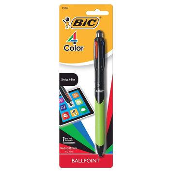 BIC Corporation MMGSTP11 1.0mm. 4-Color Grip Stylus And Ballpoint Pen Multi