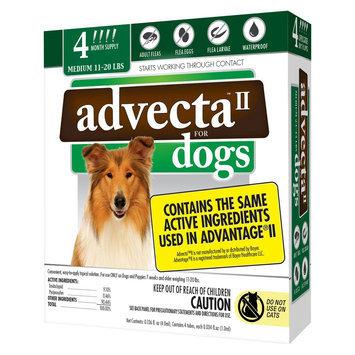 Advecta II Flea & Tick Drops for Medium Dog - 4 ct