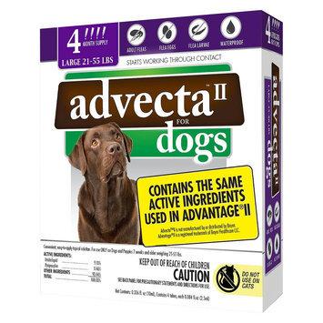 Advecta II Flea & Tick Drops for Large Dog - 4 ct