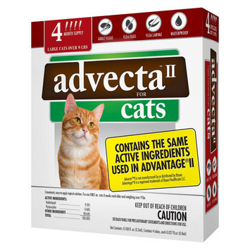 Advecta II Flea & Tick Drops for Large Cat - 4 ct