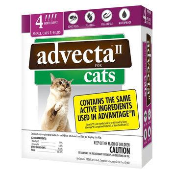 Advecta II Flea & Tick Drops for Small Cat - 4 ct