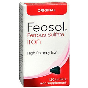 Feosol Ferrous Sulfate Iron