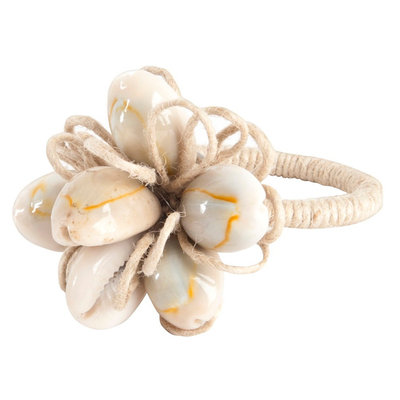 Saro Shell Design Napkin Ring (Set of 4)