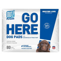 OUT! PetCare Go Here Dog Pads 80 ct