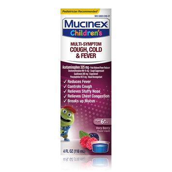 Children's Mucinex® Multi-Symptom Cold & Fever Liquid, Very Berry