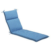 Pillow Perfect Outdoor Chaise Lounge Cushion - Blue/White Geometric