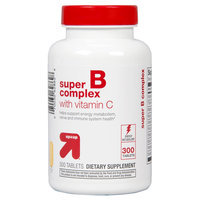 up & up Super B Complex With Vitamin C Tablets For Energy Metabolism - 300 Count