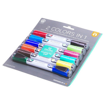 Ubrands Dry Erase Markers Double Ended 4ct - U Brands, Multi-Colored