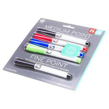 Ubrands Dry Erase Markers Medium and Fine Tip 5ct - U Brands, Multi-Colored