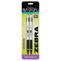 Zebra M-301 STEEL .7mm Mechanical Pencil 2PK