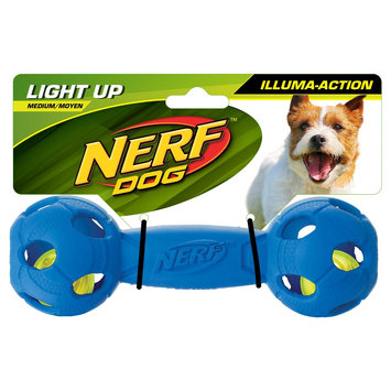 Nerf Light & Glow Barbell, Blue