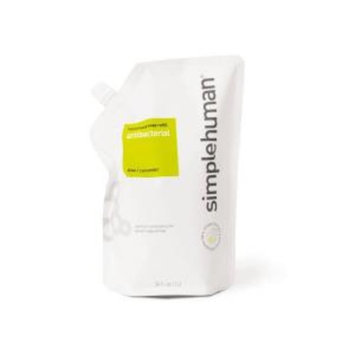 Simplehuman 34 fl. oz. Antibacterial Liquid Hand Soap Refill Pouch Aloe + Cucumber-DISCONTINUED